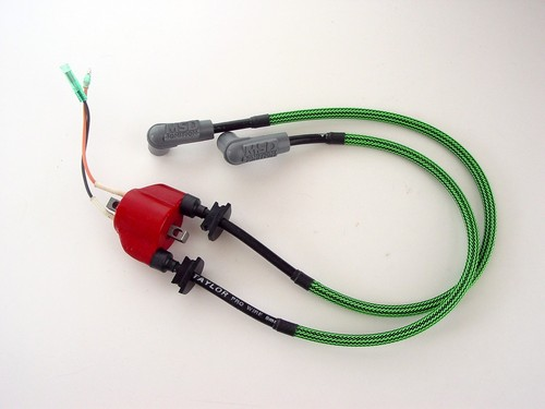MSD ignition coil spark plug cable replacement system