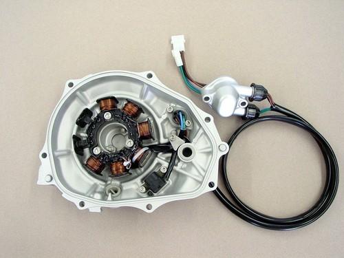 Kawasaki 800 SX-R stator service  2004-2011  12vdc  powered  igniter type  (non magneto)